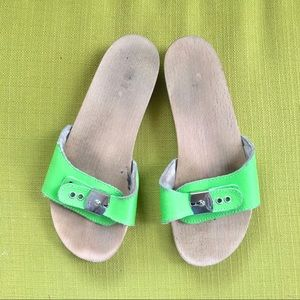 Dr Scholl's Lime Wooden Slides